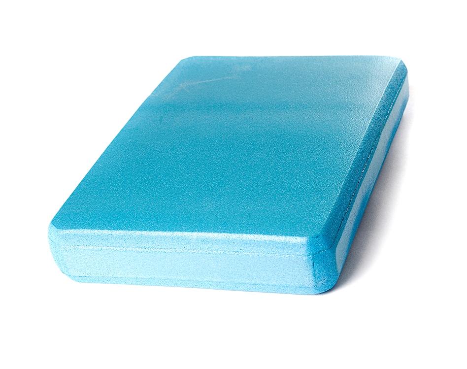 Опорный блок для йоги из EVA-пены 30*20*5 см, голубой (5 см, 30 см, 20 см) eva 15 5 19