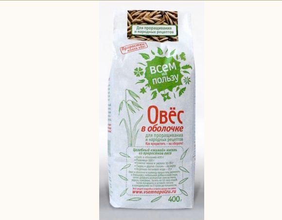 Овес в оболочке для проращивания Всем на пользу (350 гр) горох для проращивания всем на пользу
