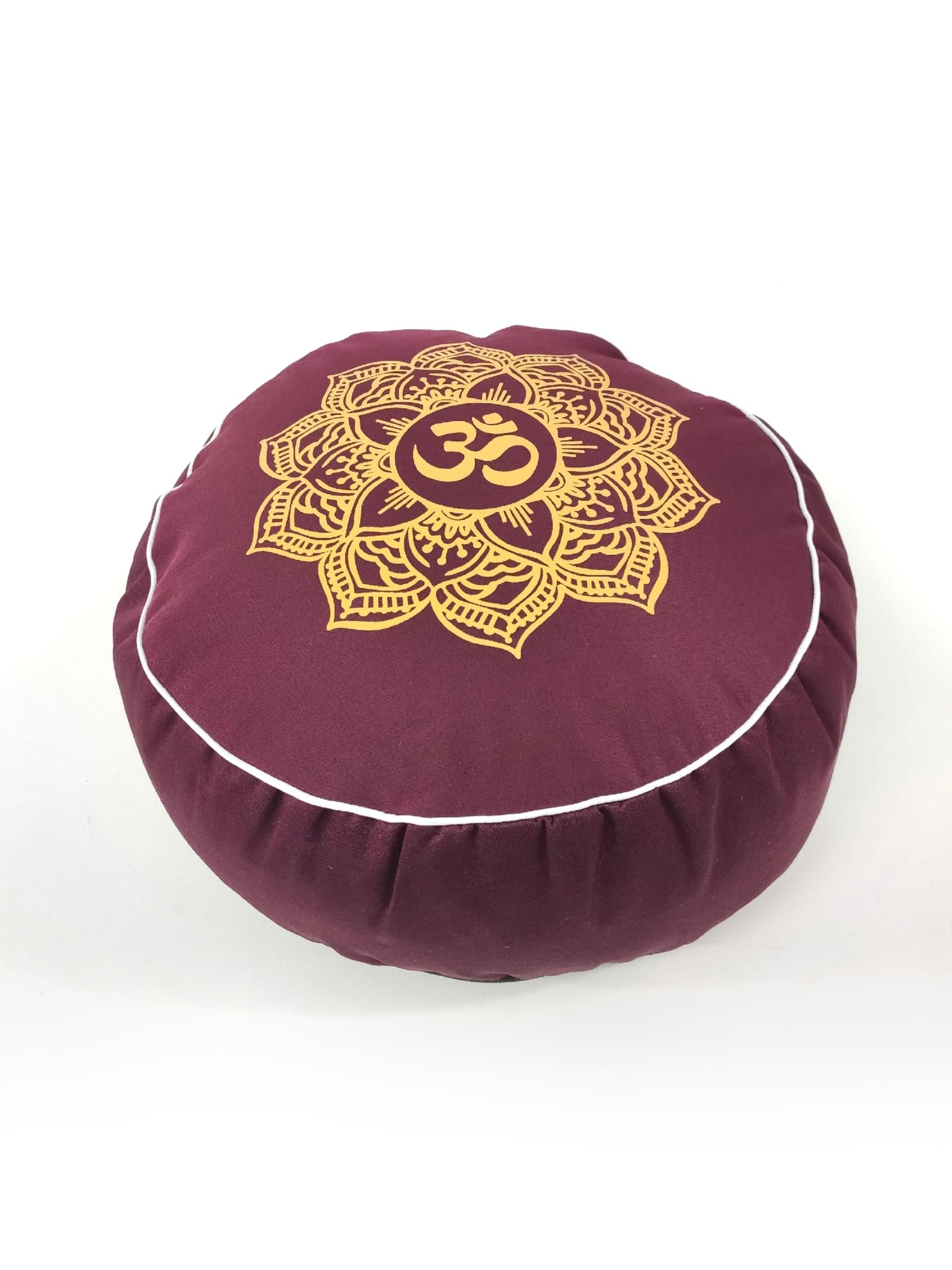 Подушка для медитации Ом Рамайога (2 кг, бордовый) подушка для медитации simple 2 5 кг зеленый