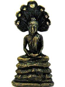 Статуэтка Будда под коброй карманный размер 3 см бронза (0,05 кг) цена 2017