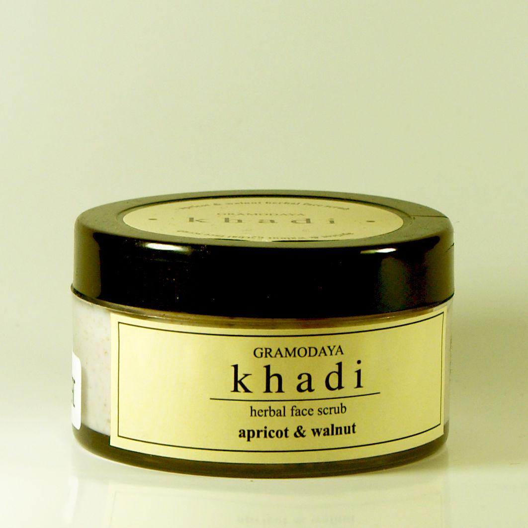 Скраб для лица орех абрикос роза Khadi Natural (50 г) гель скраб для умывания алоэ вера без слс и парабенов khadi natural 210 мл