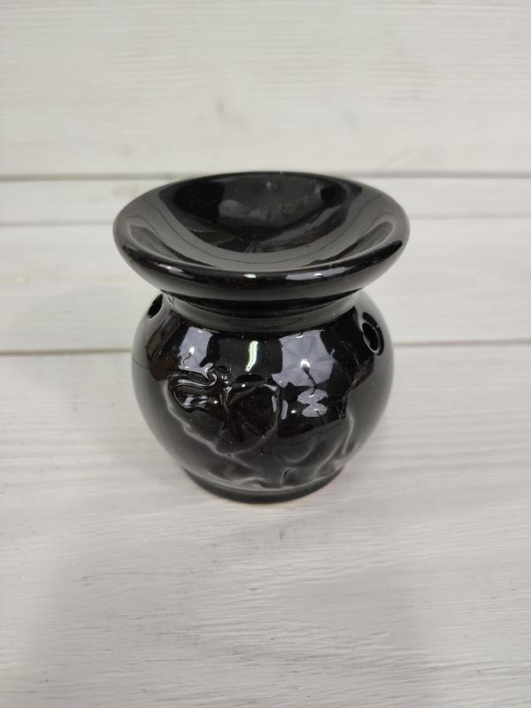 Аромалампа керамическая со Слоном черная 7см (0,2 кг, черный) аромалампа индонезийская ручной росписи керамическая 12см 12 см