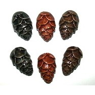 Аромакулон шишка керамический со шнурком (ассорти)