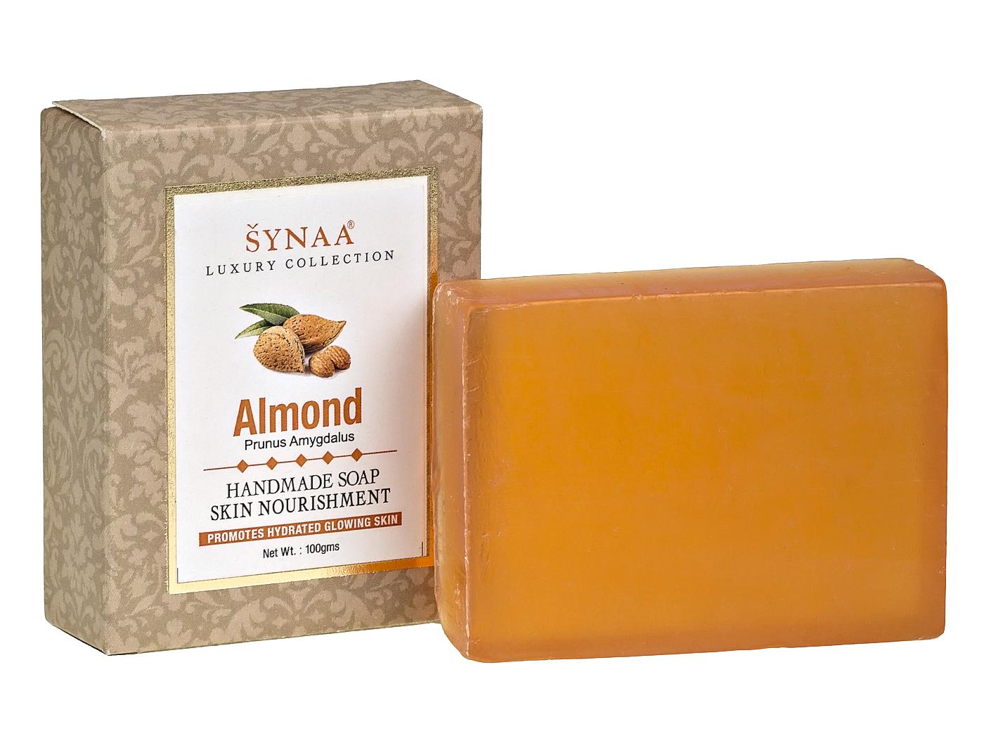Мыло ручной работы Миндаль Synaa (100 г) шампунь без слс
