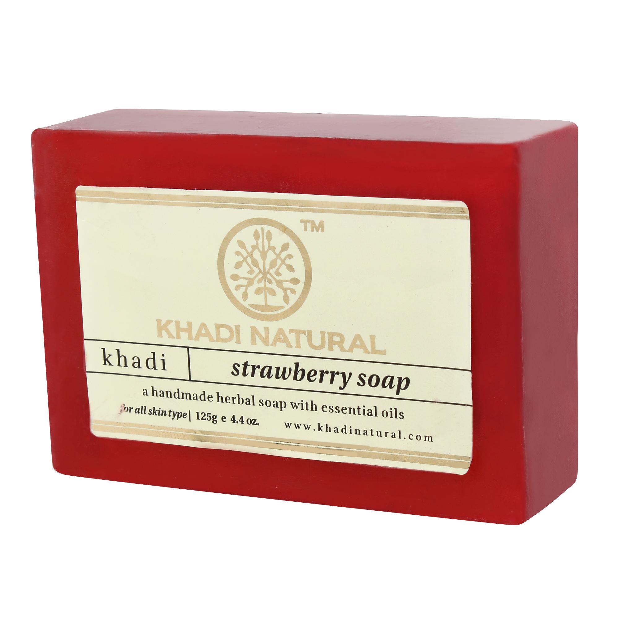 Мыло клубника Khadi natural ( Khadi 125 г ) масло лаванды 10мл