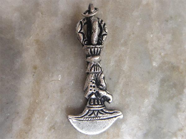 Кулон непальский серебристый