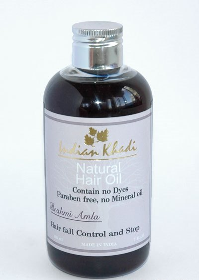 Масло для волос амла брами Indian Khadi (200 мл) масло для волос хна розмарин амла indian khadi 200 мл
