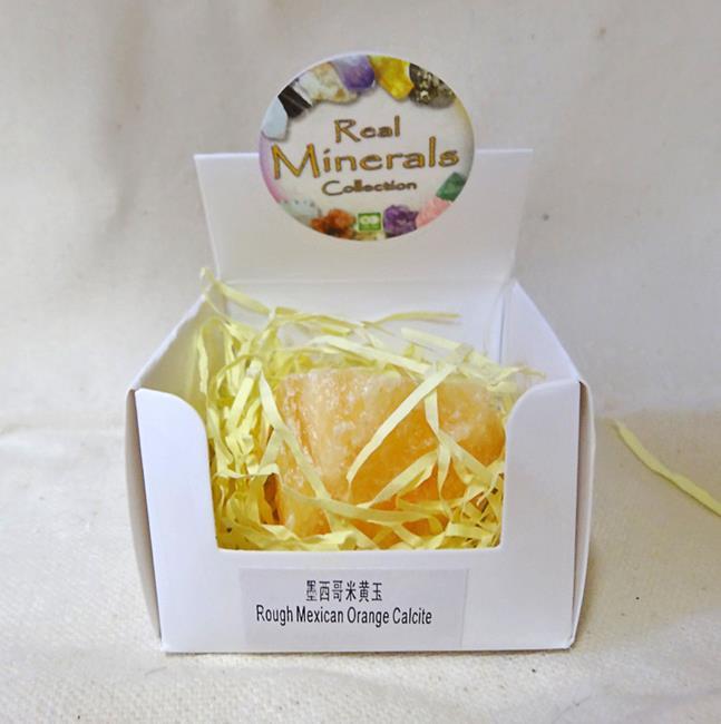 Фото - Кальцит оранжевый минерал/камень в коробочке Real Minerals Collection (Кальцит оранжевый) real madrid zalgiris kaunas