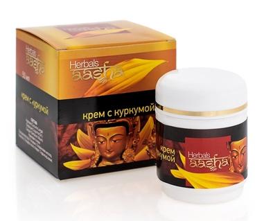 Крем для лица с куркумой Aasha Herbals (50 гр) крем для лица шафран сандал куркума indian khadi