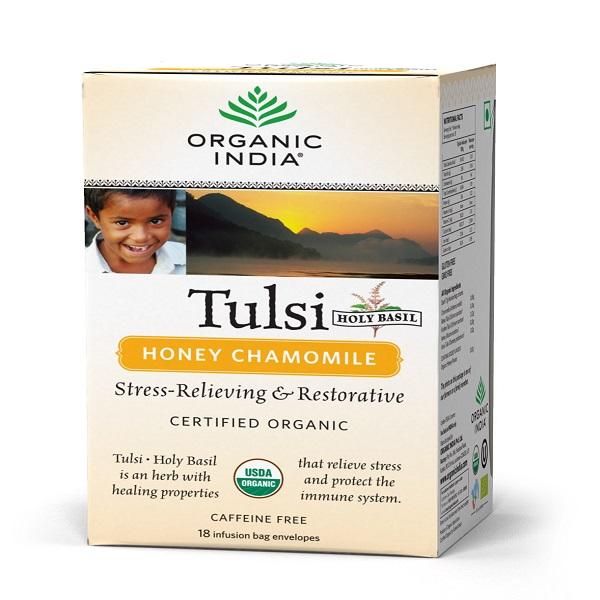 Чай тулси с ромашкой в пакетиках  Organic India (18 шт)