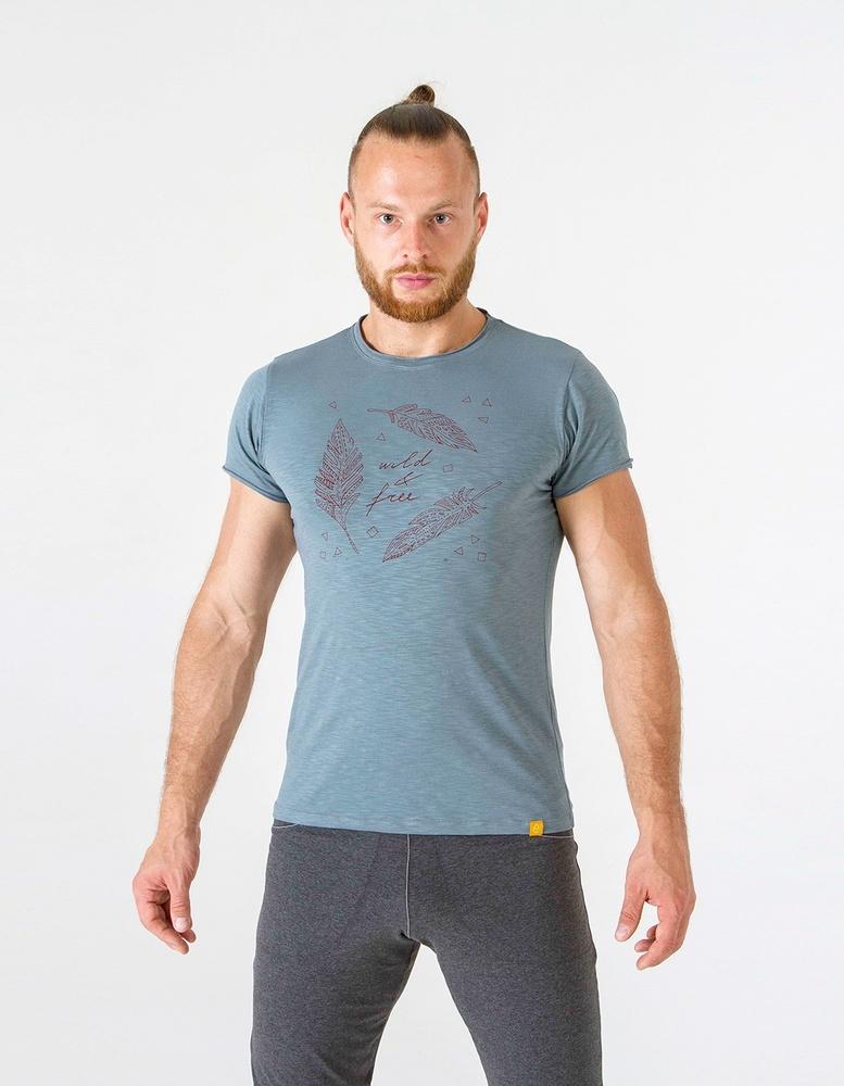 Футболка мужская Wild & Free YogaDress (0,3 кг, M (48), серый)