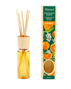 Ароматизатор тростниковый Апельсин Elfarma (45 мл) elfarma ароматизатор воздуха с натуральным эфирным маслом гортензия 45 мл