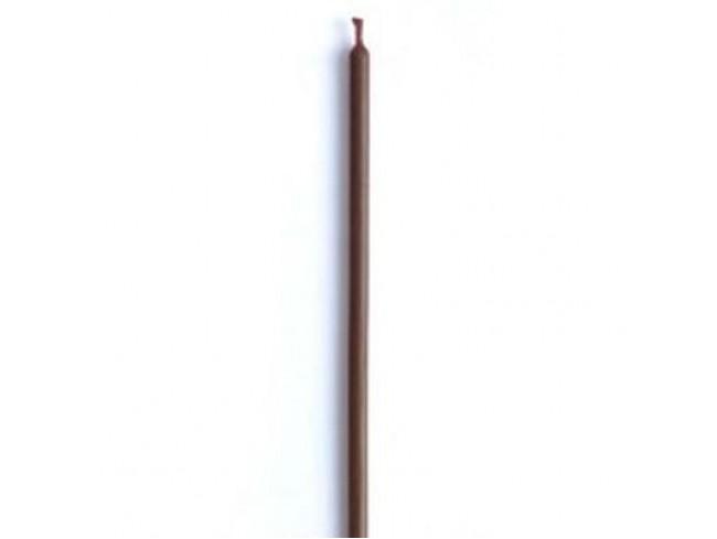 Свеча восковая двухчасовая коричневая 20 см, 8г, 2часа (коричневый)