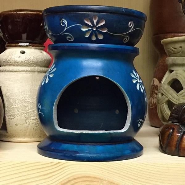 Аромалампа каменная цветная, 12 см с различными узорами аромалампа шар