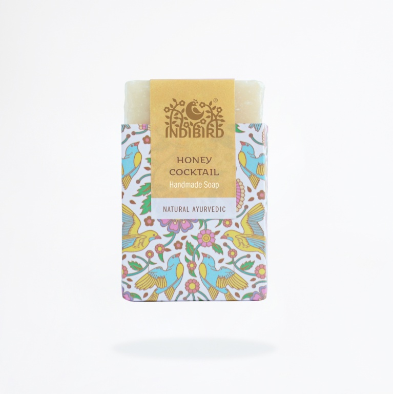 Аюрведическое мыло медовый коктейль Indibird (100 г) мед от шелушения кожи на лице