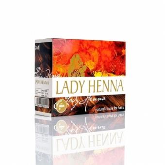 Краска натуральная на основе хны каштан Lady Henna (60 г) биокрин для волос купить