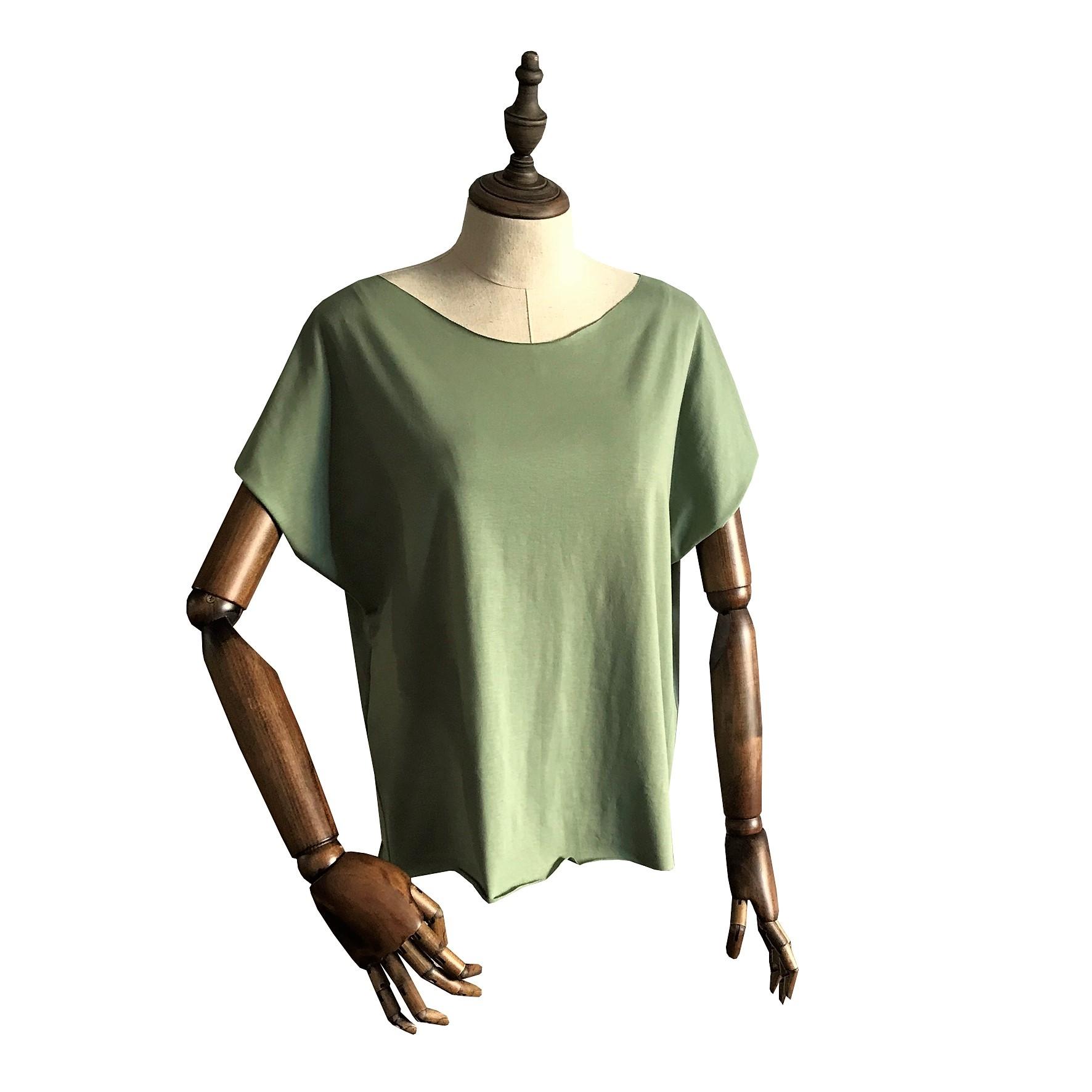 Футболка для йоги женская Free Рамайога (0,3 кг, OS (42-46), зеленый) женская одежда для спорта