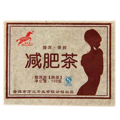 Пуэр прессованный шу путь чая плитка 100 г чай пуэр 100