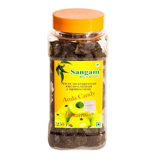 Амла засахаренная кисло-сладкая с пряностями Sangam herbals