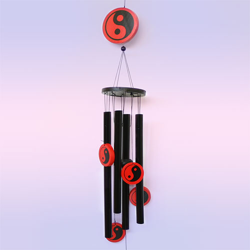Музыка ветра инь-янь 4 палочки 77 см