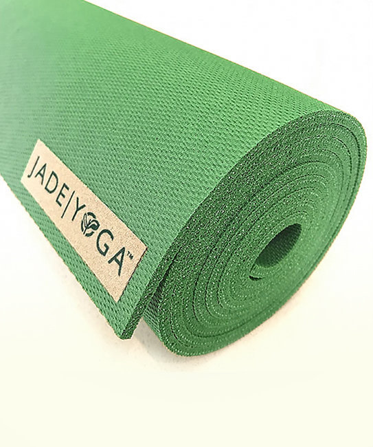 Коврик для йоги Jade Harmony 5 мм из каучука (2,3 кг, 180 см, 5 мм, зеленый /  jungle green, 60см) fifth harmony acapulco