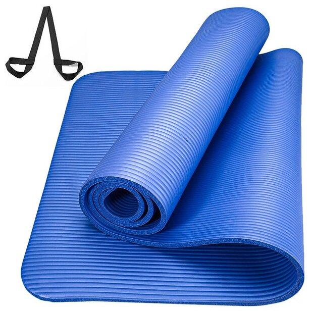Коврик для йоги и фитнеса NBR 1,5 см (183 см, 1,5 см, красный, 60 см) коврик для йоги и фитнеса nbr go do 1 см 183 см 1 см черный 60 см