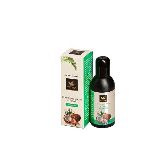 Кокосовое масло для лица с розой Veda Vedica