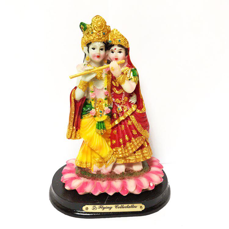 Статуэтка Кришна и Радха цветной пластик 12 см ( 0,3 кг 8 см 12 см 9 см ) сувениры