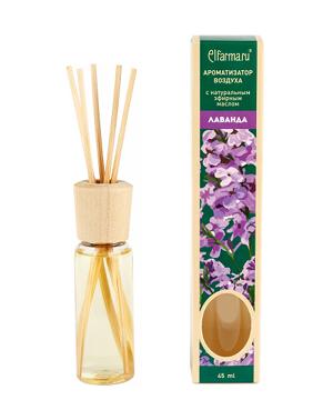 Ароматизатор тростниковый Лаванда Elfarma (45 мл) elfarma ароматизатор воздуха с натуральным эфирным маслом апельсин 45 мл