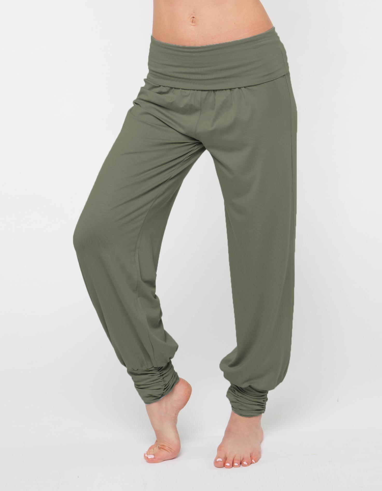 Штаны- гаремы длинные YogaDress (0,3 кг, S (42-44), зеленый/оливковый) цена