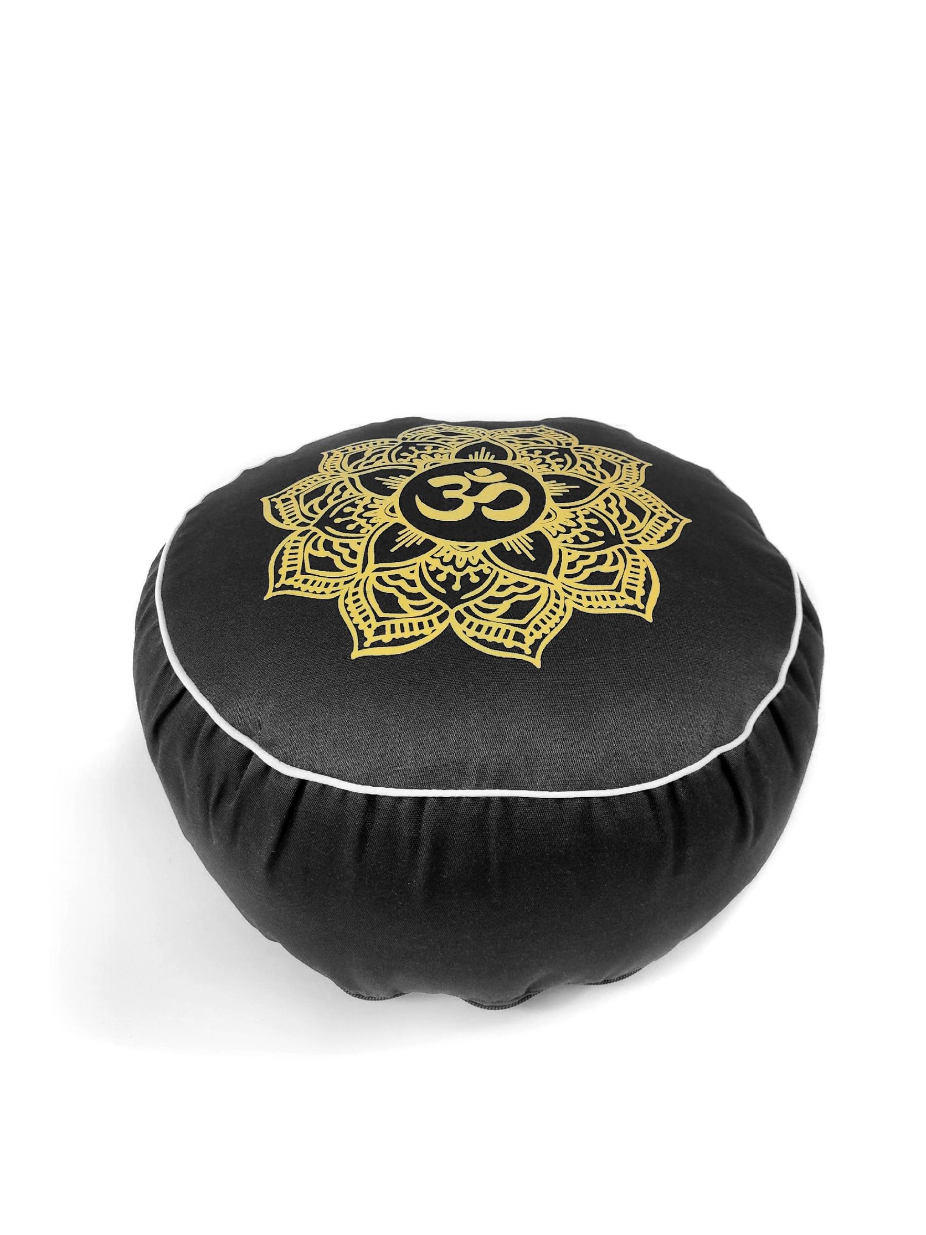 Подушка для медитации Ом Рамайога (2 кг, черный) подушка для медитации simple 2 5 кг зеленый