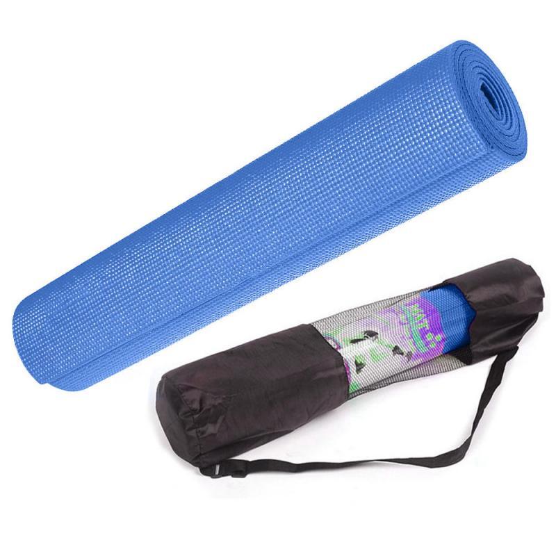 цена на Коврик для йоги Blue 4мм (0.8 кг, 173 см, 4 мм, синий, 60 см)