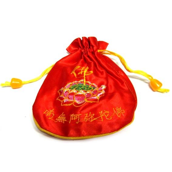 Мешочек для четок красный  14см ткань (Z279-1)