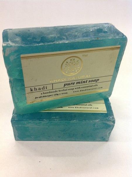 Мыло мята Khadi natural