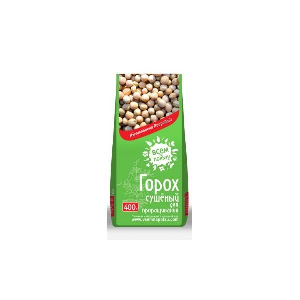 Горох сушеный для проращивания Всем на пользу (400 г) горох для проращивания всем на пользу