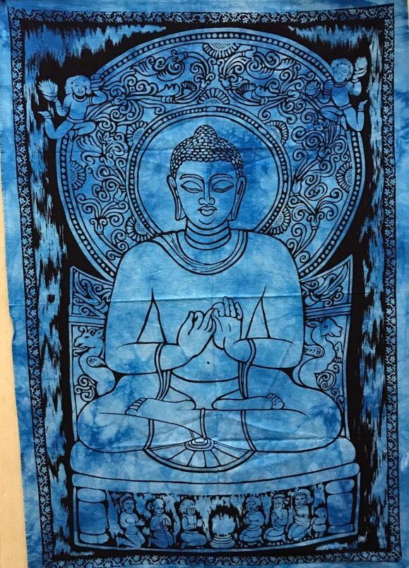 Панно тканевое будда голубой фон 80х107см (голубой)