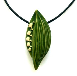 Аромакулон ландыш керамический (зеленый)