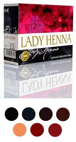 Палитра красок для волос Lady Henna