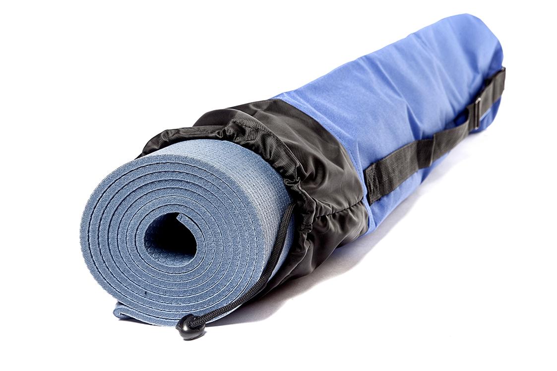 Чехол для коврика Инь Янь однотонный синий (0,3 кг, 16 см, 80 cм, синий) сумка для коврика yoga style 0 3 кг 70 см 16 см
