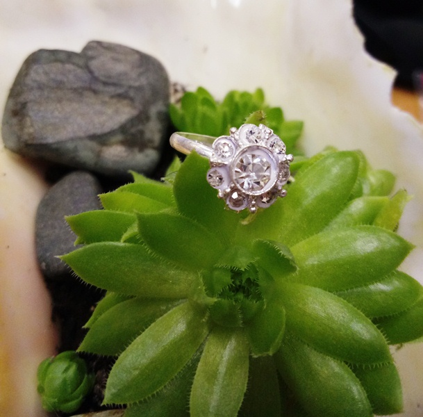 Кольцо на палец ноги Бриллиантовый Цветок (цветок) кольца wisteria gems кольцо с синей друзой