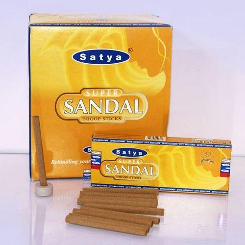 Благовония безосновные супер сандал Cатья / Super Sandal dhоор stk Satya (0,05 кг, 10 шт )