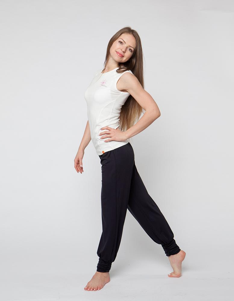 Штаны- гаремы длинные YogaDress (0,3 кг, S (42-44), черный) цена
