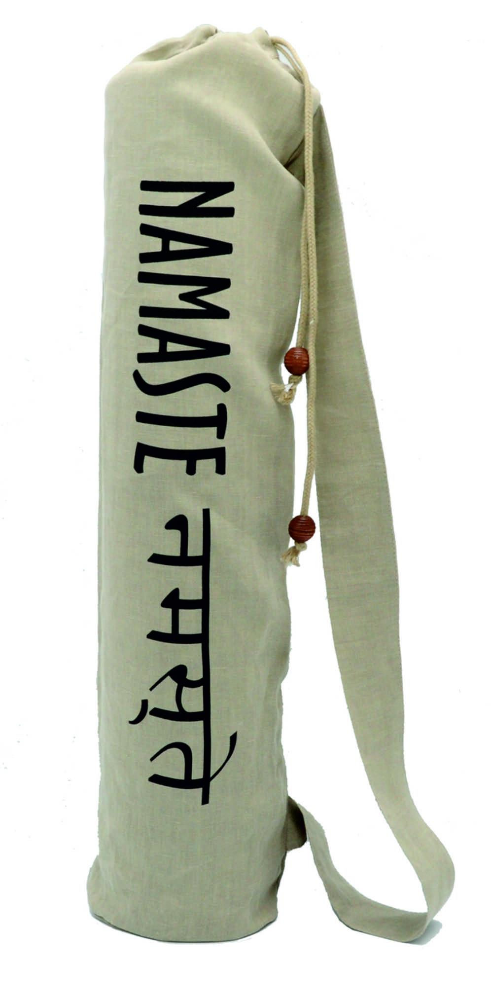 Чехол для коврика Namaste льняной (Нет, 15 см, 70 см, бежевый)