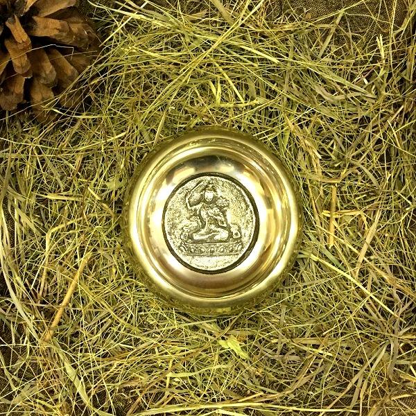 Чаша поющая литая  с барельефом 13.5 см, золотая (13,5 см)