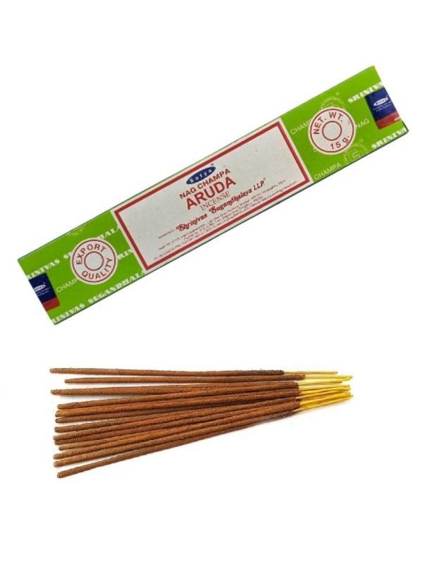 Благовония Аруда Сатья серия incense / Aruda Satya (15 г, зеленый)