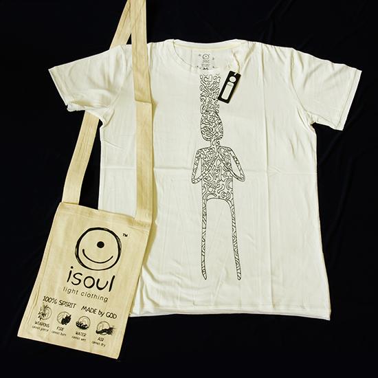футболка мужская buddha isoul 0 3 кг l 48 белый Футболка мужская Pray iSoul (0,3 кг, M (46), белый)