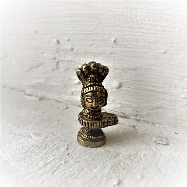 Статуэтка Шивалингам карманный размер 3 см бронза (0,05 кг)