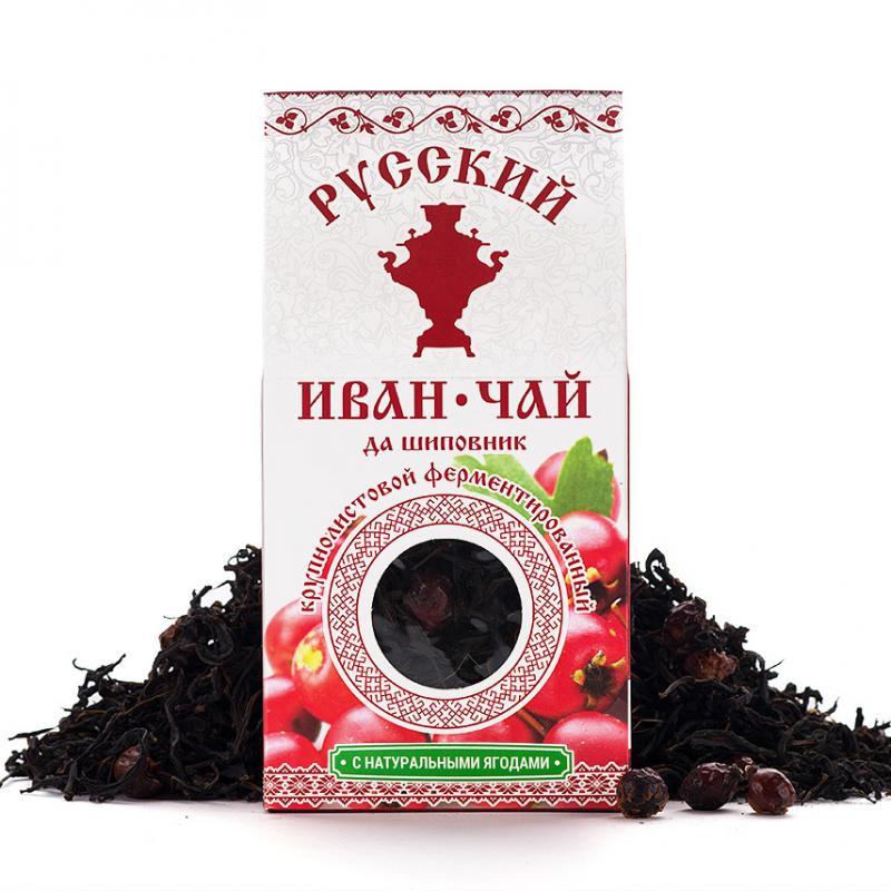 купить Иван-чай с шиповником Русский чай (75 г) по цене 180 рублей