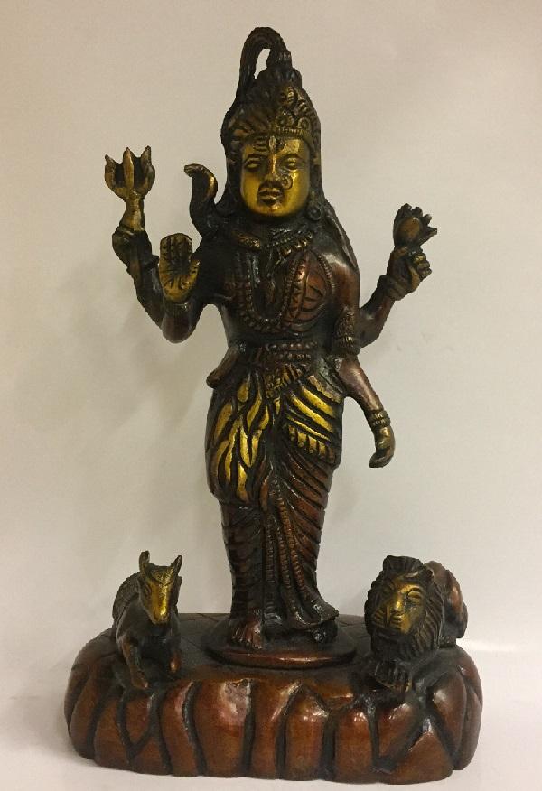 Статуэтка Шива бронза 20см (2900W) 43 142 фигурка смеющийся будда бог богатства бронза о бали 1107590