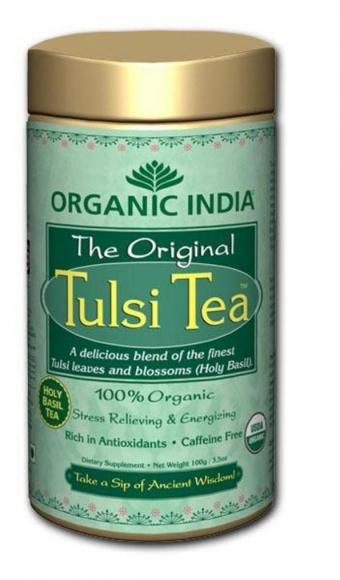 "Чай в банке органический ""Туласи"" (Tulsi, Тулси) Organic India"